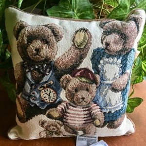 The Three Bears Corded Decorative Pillow 12 1/2""